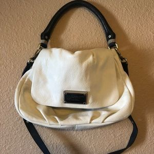Marc by Marc Jacobs black and white leather bag